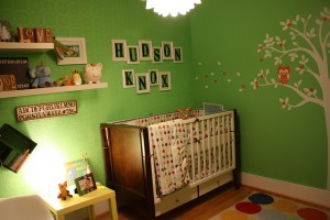 green-baby-room