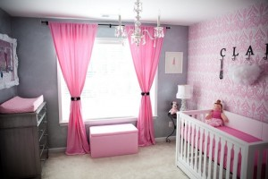 pink-and-gray-nursery