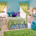 γαλάζιο λαχανί δωμάτιο