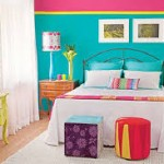 aqua φούξια δωμάτιο