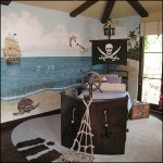 pirateship theme bedroom decorating ideas-pirate bedroom ideas-nautical beach tropical island style