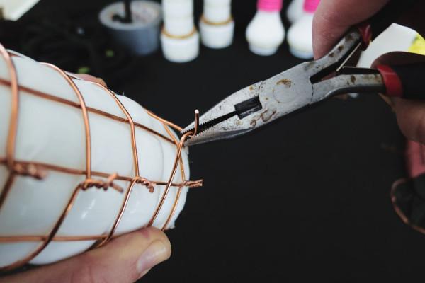 DIY βάζο με σκοινί