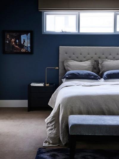 ντεκόρ με μπλε & μαύρο