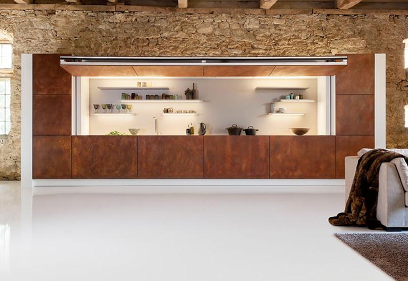 Η κουζίνα που κρύβεται με το πάτημα ενός κουμπιού