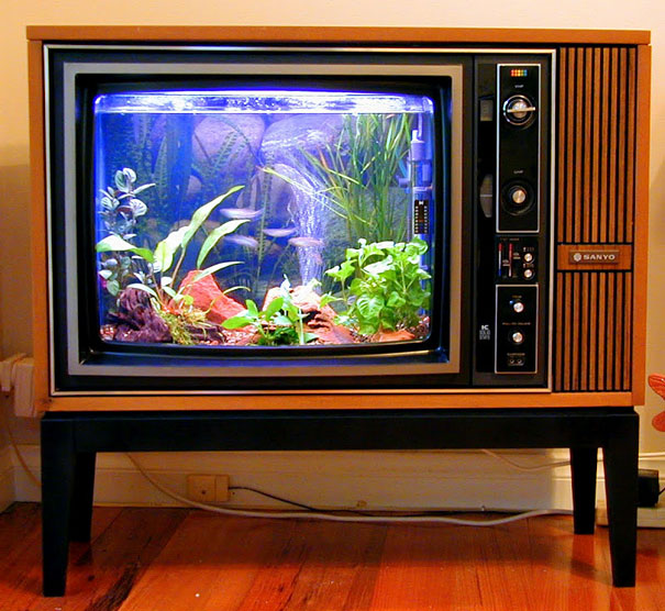 Μια παλιά τηλεόραση γίνεται καταπληκτικό ενυδρείο