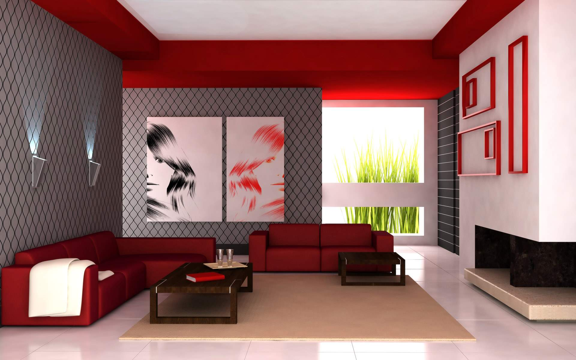 living-room-fashionable-simple-living-room-design-showing-l-shape-red-leather-sectionals-sofa-with-track-arms-and-low-tilt-backrest-also-rectangular-dark-brown-solid-wood-coffee-table-above-cream-carp