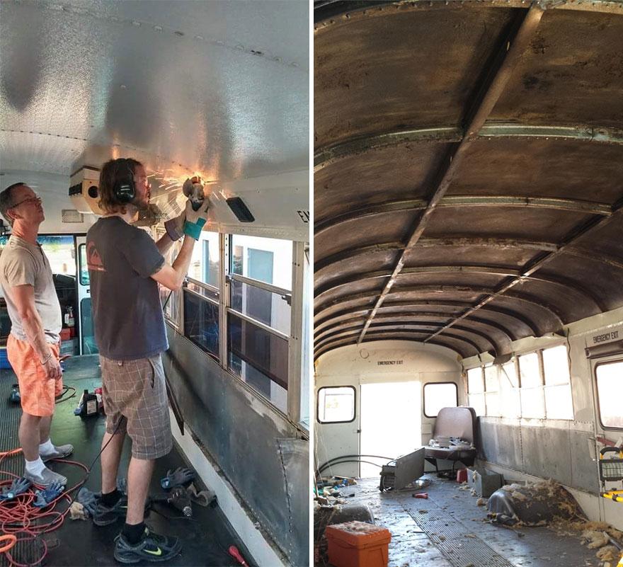 Δείτε την μεταμόρφωση ενός λεωφορείου σε σπίτι