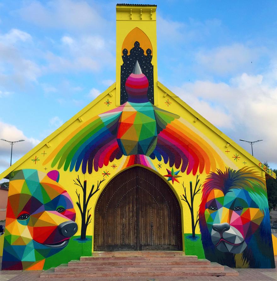 Εγκαταλελειμμένη εκκλησία μεταμορφώθηκε σε graffiti στο Μαρόκο