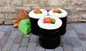 sushi-pouf