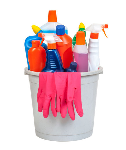 Bucket of cleaning equipment