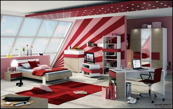teenage-girls-room-stripes