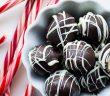 Εύκολες τρούφες σοκολάτας με μέντα