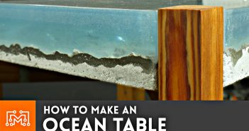 How to make an Ocean Table :: Concrete and Epoxy Resin