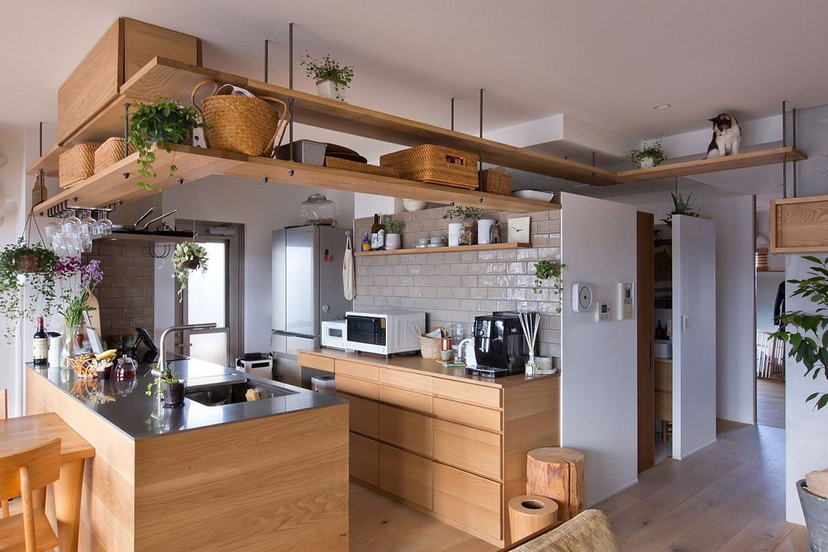 wooden-shelves-and-wall-mounted-cabinets-offer-storage-space-without-creating-a-clutter