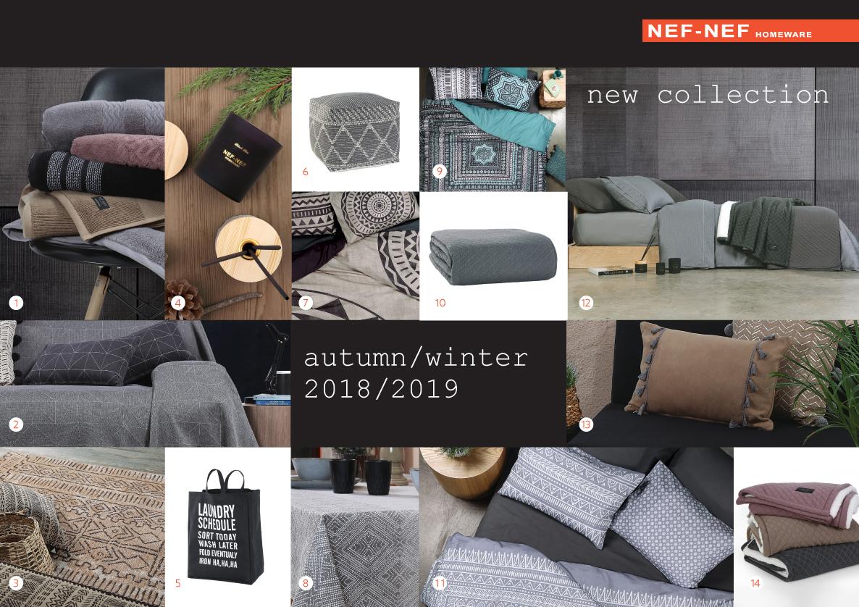 038c067abe Νέα συλλογή NEF NEF Homeware Φθινόπωρο - Χειμώνας 2018