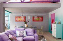 πολύχρωμο σαλόνι