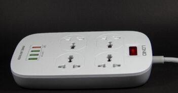 Πολύπριζο με σούκο, USB γρήγορης φόρτισης και προστασία ρεύματος